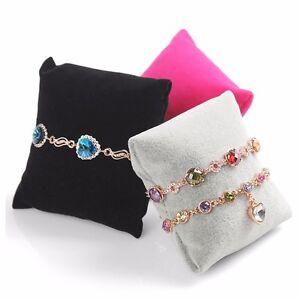 Velvet-Bracelet-Bangle-Watch-Chain-Pillow-Holder-Jewelry-Display-Stand-Organizer