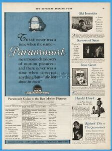 1926 Paramount Pictures Beau Geste Quarterback Old Ironsides Silent Movies Ad