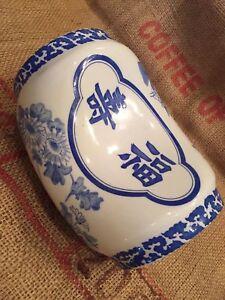 VINTAGE-CERAMIC-CHINESE-BLUE-amp-WHITE-OPIUM-PILLOW-HEADREST