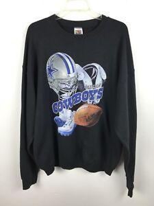 Image is loading Vintage-Dallas-Cowboys-Football-Sweatshirt-Black-NFL-Star- 0b19bf29f