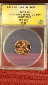 2009-1C-Formative-Years-DD-Rev-WDDR-002-Anacs-MS-66-Red-Free-Shipping