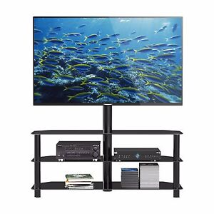 Glass Tv Stand With Bracket For 32 52 Inch Lcd Led Plasma 3d Vesa Up