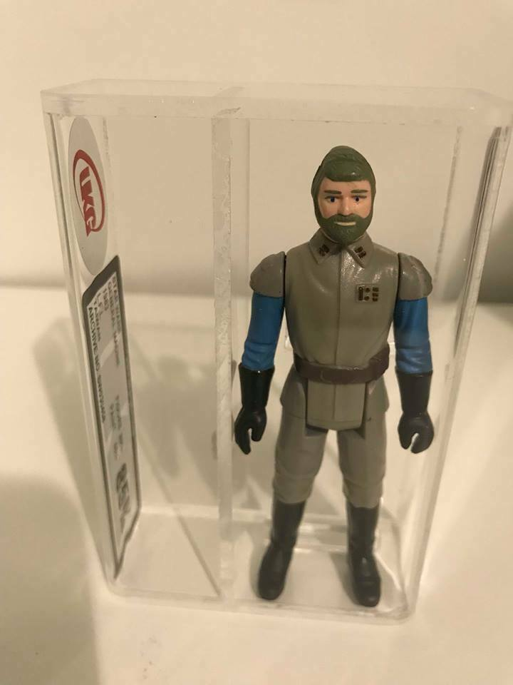 STAR WARS VINTAGE GENERAL MADINE GREEN HAIR VARIANT UKG 85  NOT AFA  NR MINT