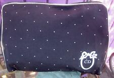Christian Dior Black W White Polka Dot Cosmetic Case Bag
