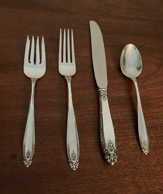 International Sterling Silver Prelude Flatware Setting Salad Fork Knife Spoon Ebay