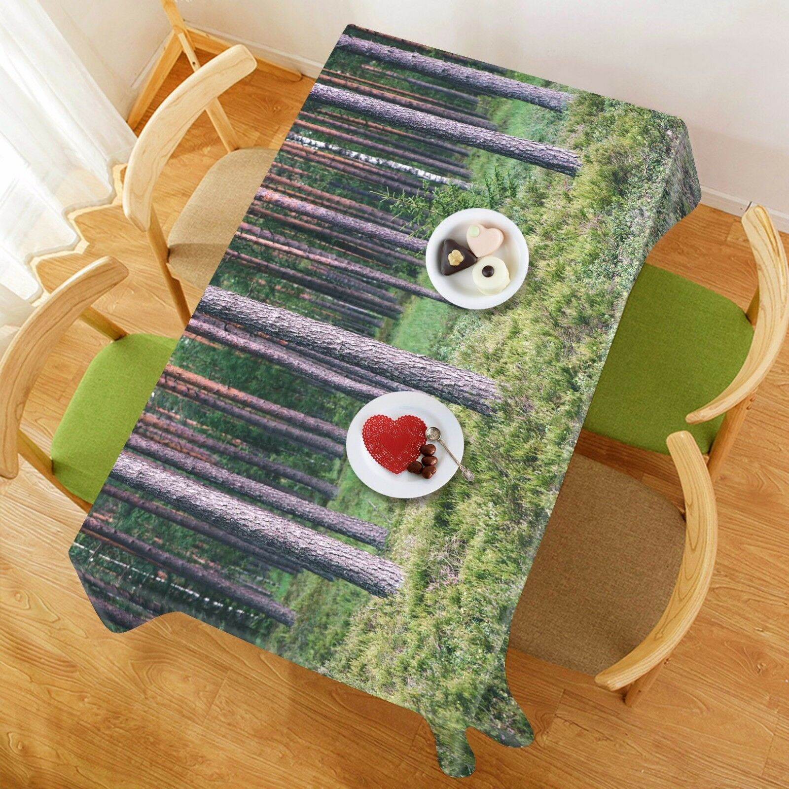 3D Tree lawn99 Tablecloth Table Cover Cloth Birthday Party Event AJ WALLPAPER UK