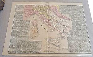 Cartina Dell Italia 1815.Antica Carta Geografica Italia Italy Dopo Il 1815 12 17 Ebay