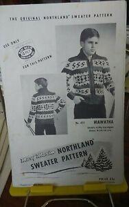 Vtg-Mary-Maxim-knitting-pattern-451-Hiawatha-cardigan-childs-sz-8-12