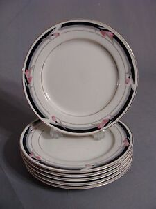 6 Ivory Elegance By Ranmaru Salad Plates In The Courtly #1634 ...