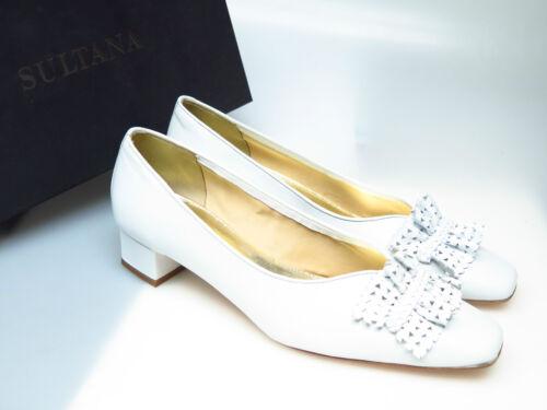SULTANA Schuhe Designer Damenschuhe N4414 Lucy Nappa Bianco Laureen Gr 41 NEU