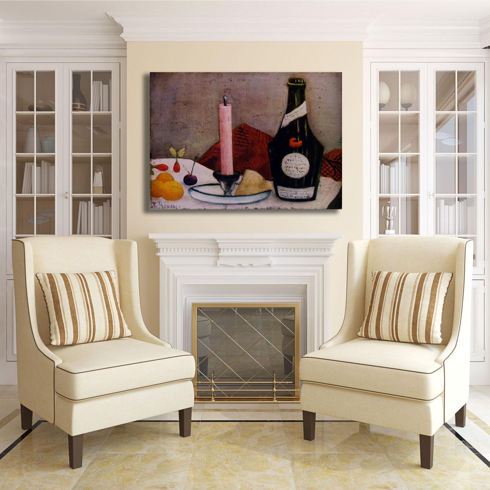 Rousseau arRouge candela rosa design quadro stampa tela dipinto telaio arRouge Rousseau o casa 36382e