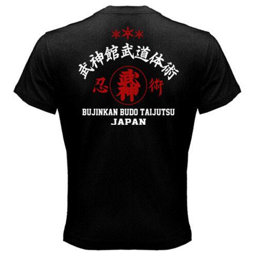 New Japan Ninja Bujinkan Ninjutsu Budo Taijutsu Kanji Logo Symbol T-shirt