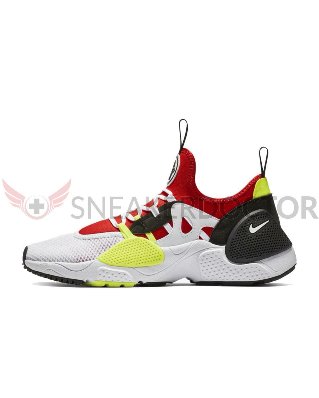 Nike herr Huarache EDGE TXT springaning skor vit  vit -University röd All Storleks