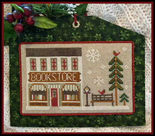 10/% Off LHN Counted X-stitch chart Hometown Holiday The Bookstore #13
