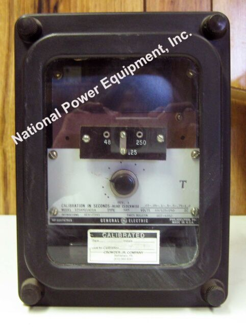 General Electric Type Sam Static Timing Relay 12sam11a21a eBay