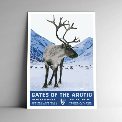 Gates of the Arctic National Park WPA-Style Vintage Travel Poster 12x18 Alaska