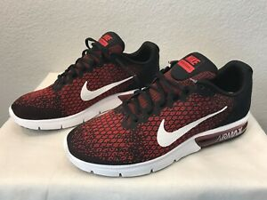 Details about New Nike Air Max Sequent 2 II Shoes RedBlack (852461 006) Men's Size 12