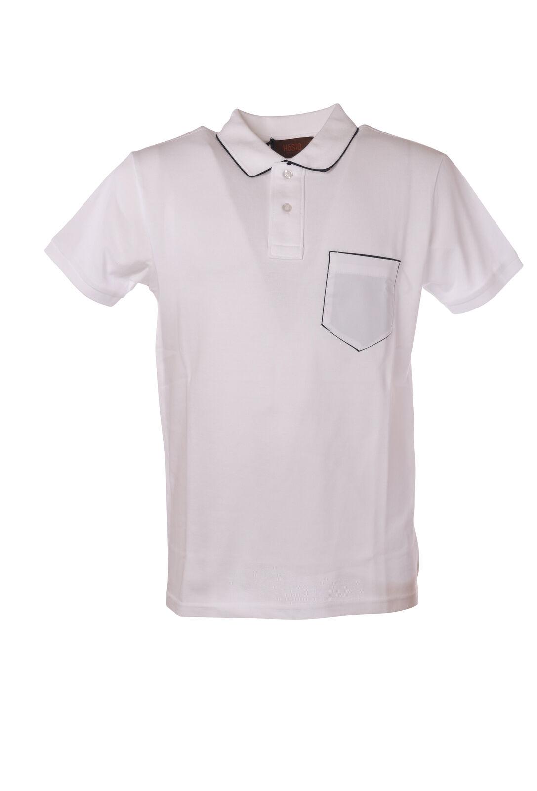 Hosio - Topwear Polo - Mann - Weiß - 5326513L184021