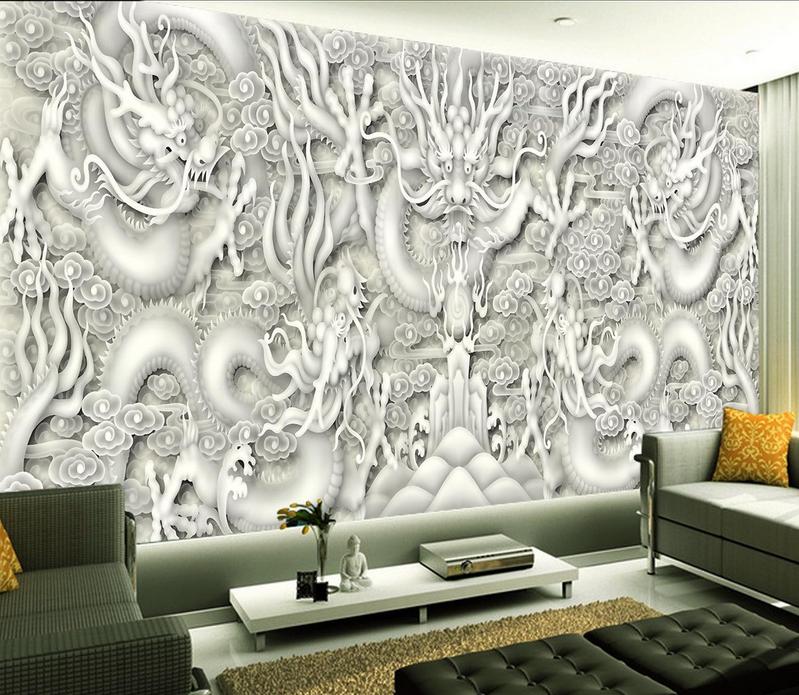 Papel Pintado Mural De Vellón Patrón De Dragón De Moda 2 2 Moda Paisaje Fondo Pantalla 4134dd