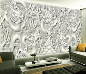 Papel Pintado Mural De Vellón Patrón De Dragón De Moda 2 Paisaje Fondo Pansize
