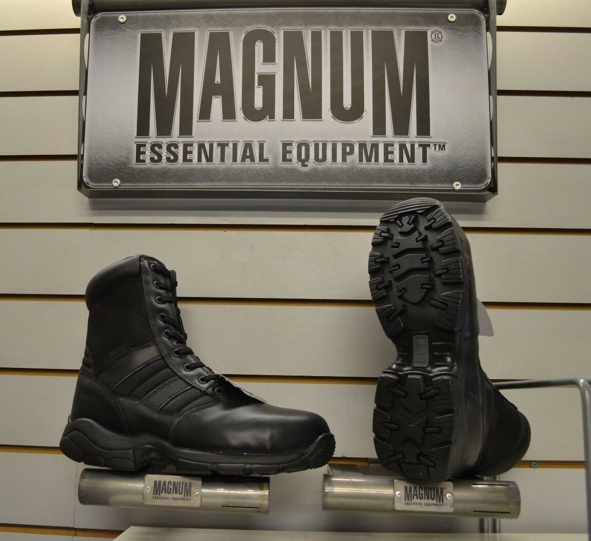 Mens Magnum Panther 8.0 Side Zip Steel Toe Safety Boots Sizes UK 7 - 12 Security