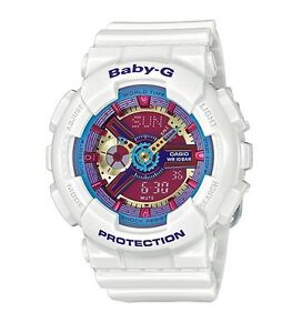 Casio Baby-G * BA112-7A Anadigi Neon Color Dial Gloss White COD PayPal