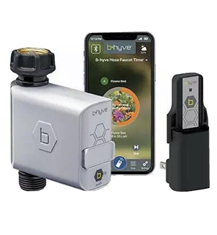 Orbit 21004 B-hyve Smart Hose Faucet Timer w/ Wi-Fi Hub, Bluetooth NIB