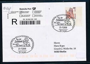 10108) Reco-lettre Ef 2,61 € Do. - Nom. Bg-coin Sst 2006 Drochtersen Jour Des Code Postal-afficher Le Titre D'origine Retarder La SéNilité