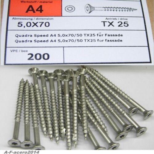 10x Spanplattenschrauben 9042 A4 Edelstahl Senkkopf für Massivholz V4A Qualität