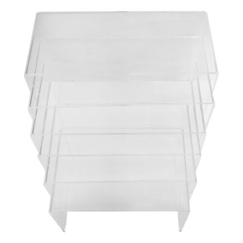 6 PC Display Rack Fixture Clear Acrylic U Cubes Riser Nester Retail Store