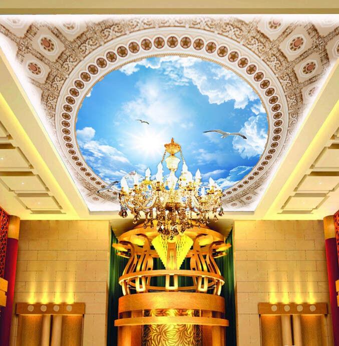 3D Chic Sky Sky Sky Bird 883 Ceiling WallPaper Murals Wall Print Decal Deco AJ WALLPAPER 51c69c