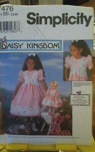Oop-Simplicity-Daisy-Kingdom-7476-girls-party-dress-mock-vest-sash-sz-5-6x-NEW