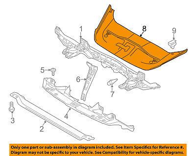 AUDI OEM Radiator Core Support-Sight Shield Splash Cover Panel 8K0807081D9B9