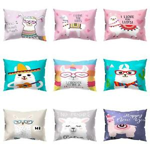 Am-KF-Cartoon-Alpaca-Rectangle-Pillow-Case-Cushion-Cover-Sofa-Home-Decor-Gift