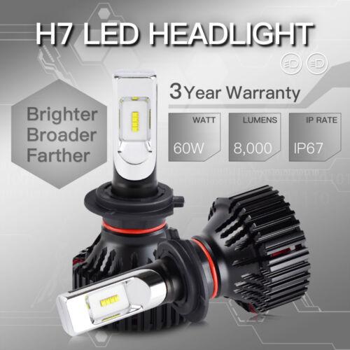 H7 LED Headlight High Low Beam LUXEON Z ES Chip 60W 6500K Conversion Bulbs Kit