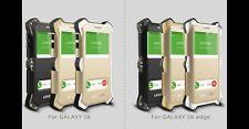 Love Mei Metallgehäuse Samsung Galaxy MK2 S6 Edge spritz Wasserdicht Schutz weiß