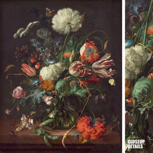 """32W/""""x40H/"""" VASE OF FLOWERS 1660 by JAN DAVIDSZ DE HEEM FLORAL CHOICES of CANVAS"""