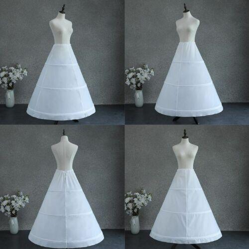 New Womens Adjustable Waist 3 Hoop A-line Wedding Bridal Petticoat Single Layer