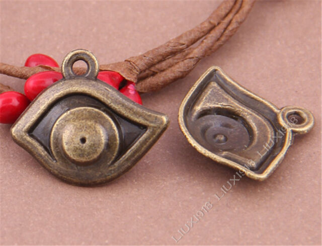 10pc Eye Pendant Charms Dangle Accessories Bead Findings Antique Bronze S319T