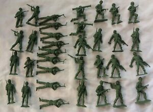 Vintage-MPC-Plastic-54mm-WWII-U-S-Army-GI-Soldiers-Lot