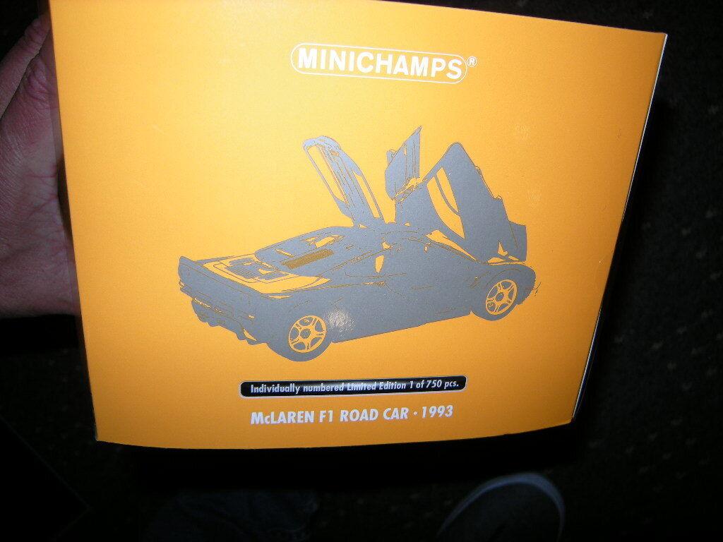 1 18 Minichamps mclaren f1 road Coche 1993 Limited Edition 1 of 750 PCs. en OVP