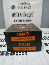 Timken Lm603014 Roller Bearing Cup Lot Of 2 Nos