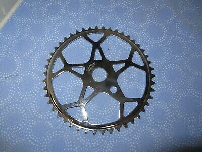 """New Crown Bicycle Snow Flake Crank Sprocket 48 tooth 1//2/"""" X 1//8/"""" Chrome"""
