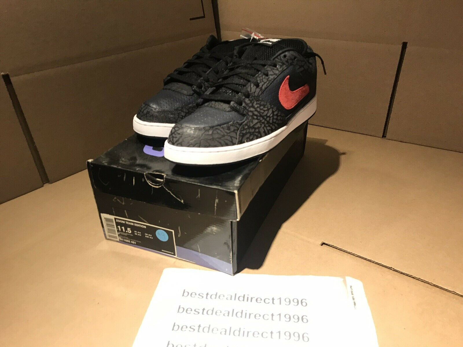 Nike SB Zoom Team Edition  Size 11.5 Obsidian blueee Red 311665-461