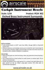Airscale Decals 1/24 COCKPIT INSTRUMENT BEZELS Etched Brass