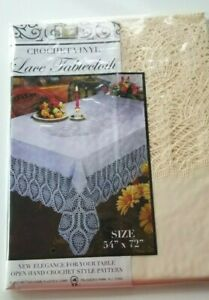 Crochet-Vinyl-Lace-Tablecloth-by-Better-Home-Ivory-Beige-54-034-x-72-034
