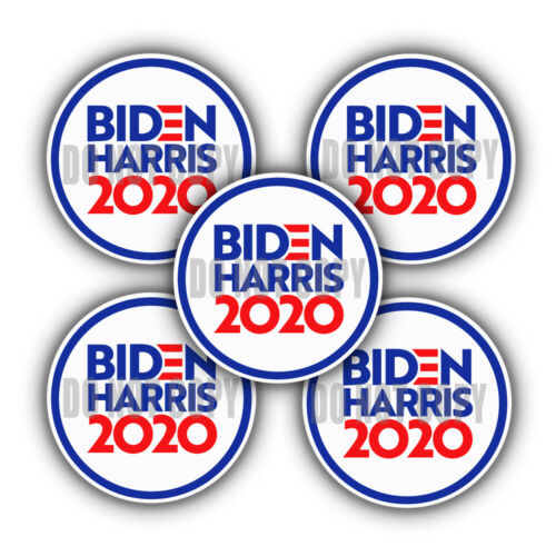 "Biden Harris 2020 Joe Kamala President Election Decals 5 pack 2/"" mini circles"