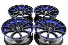 18 blue Wheels Rims Crosstour Camry Stratus FRS BRZ K900 Optima xB 5x100 5x114.3
