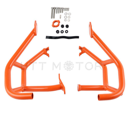 For KTM 1290 Super Duke R GT Orange Side Crash Bar Hoop Frame Bumper Guard 14-18