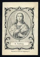 santino incisione 1800 S.LUIGI RE DI FRANCIA